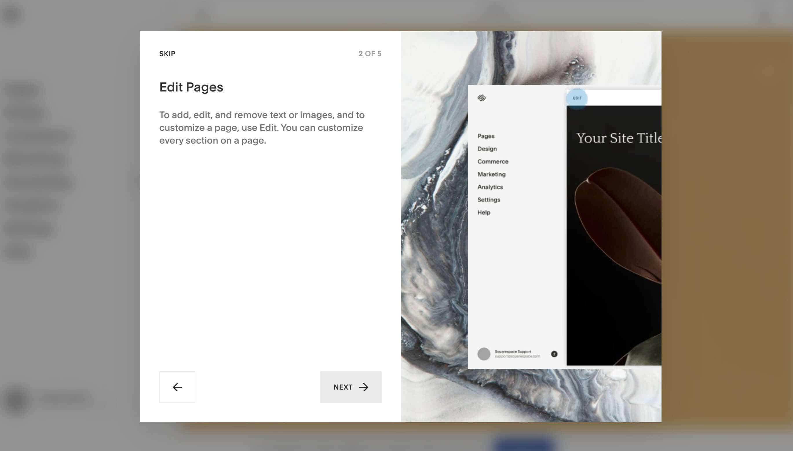 Building a website with squarespace