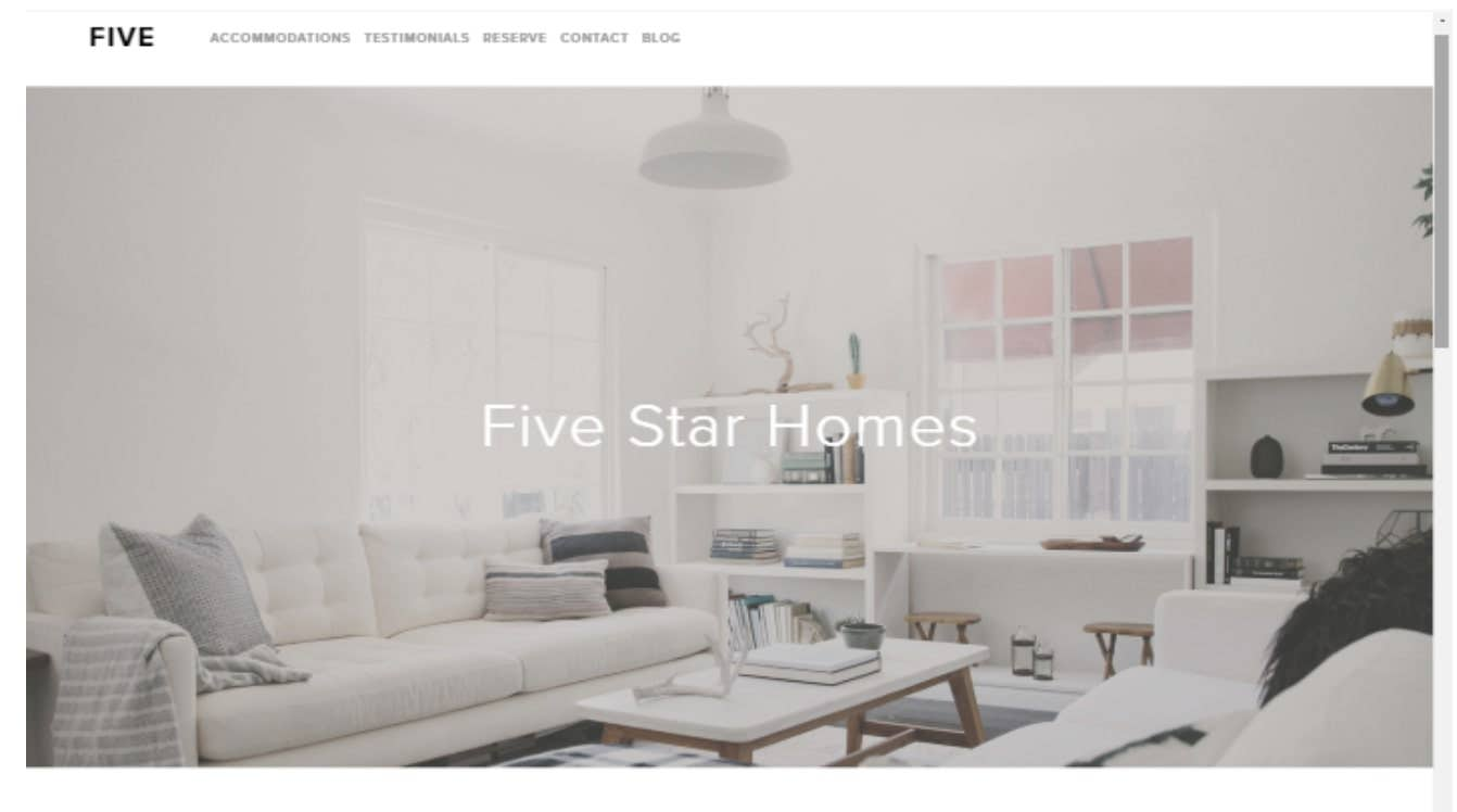 squarespace template  five