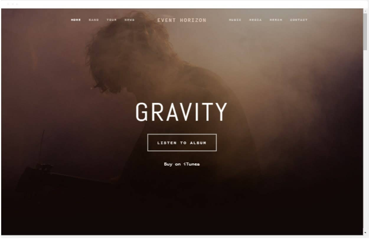 squarespace template horizon
