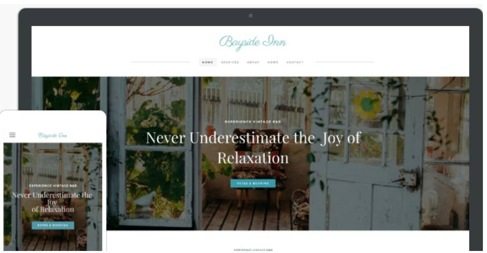 weebly template bayside inn