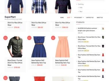 Elegant and professional shop page setup