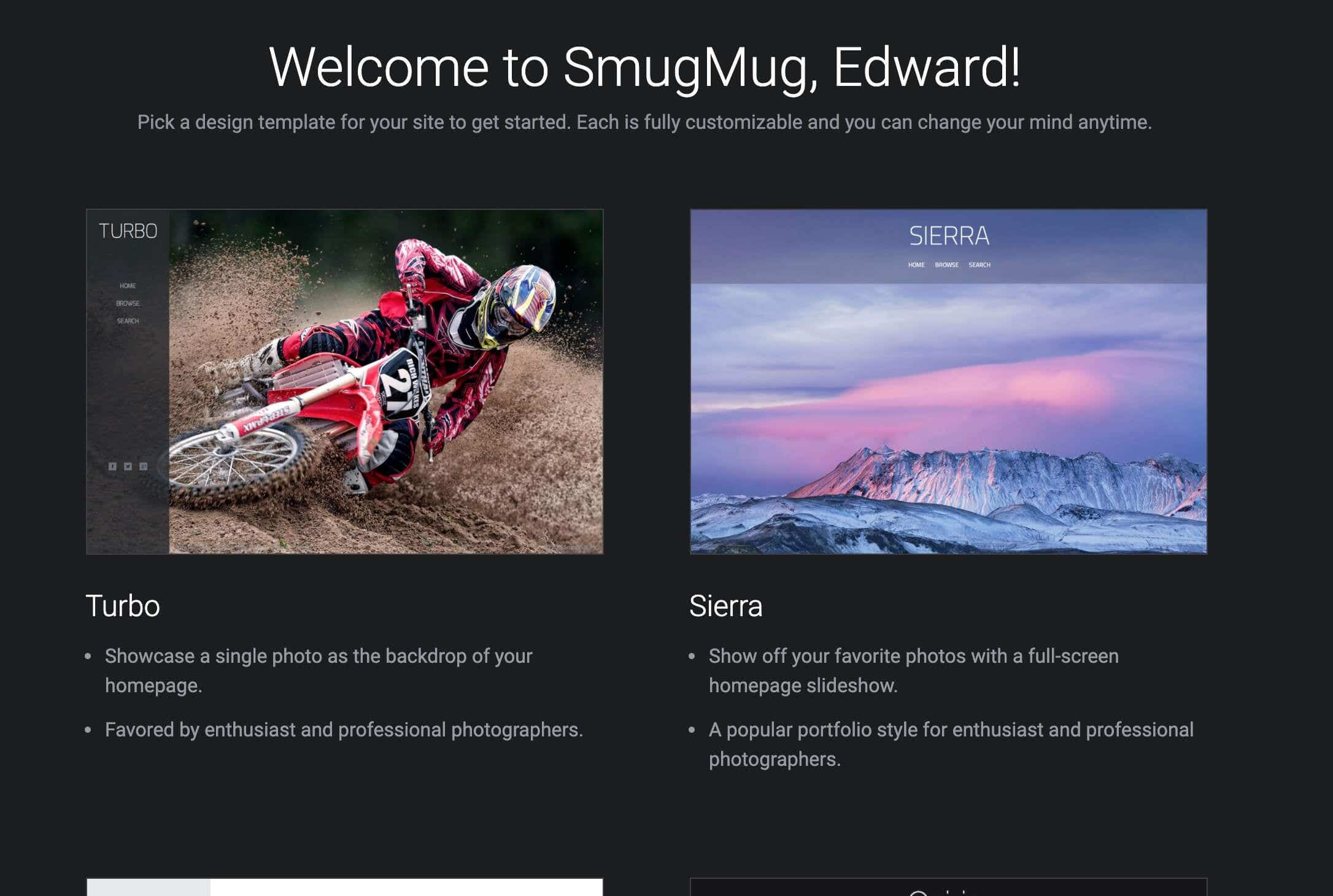 smugmug for art portfolios