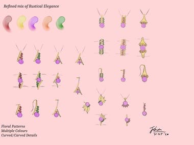 A jewellery collection based on Provence, France. Started with concept ideation and ended with photo-realistic renders of the refined designs.