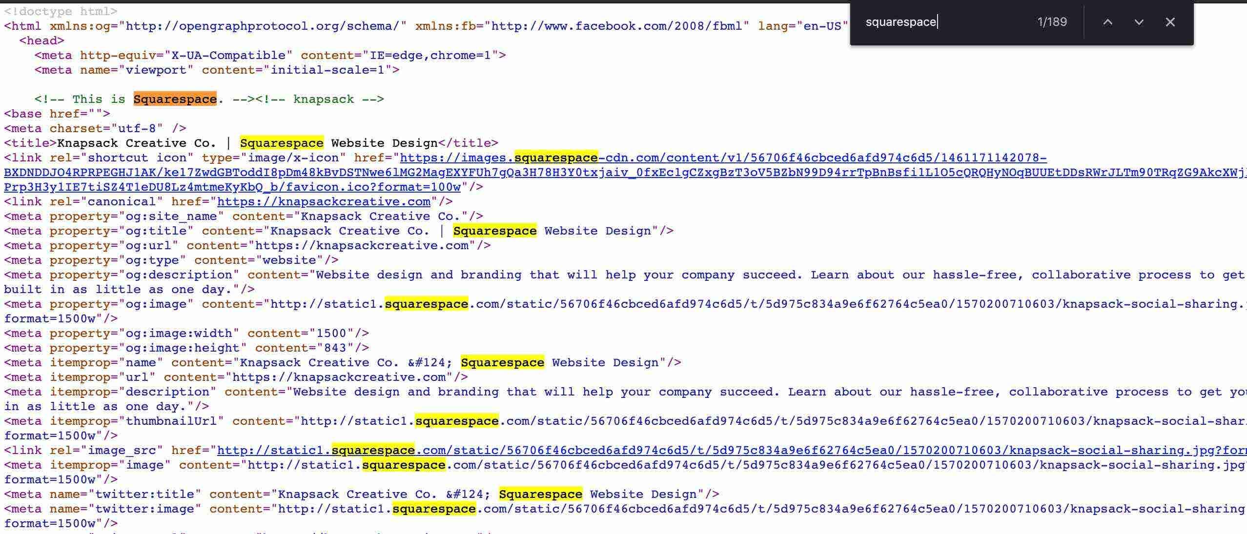 how to check platform website built on
