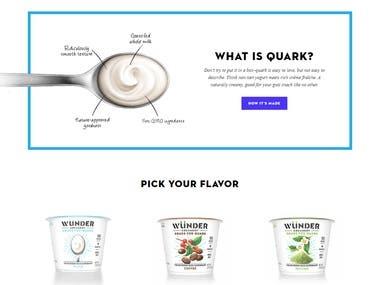 Website Designed and developed using Wordpress. Elegant theme Design for Digital Presence of an emerging brand Website link: https://www.wundercreamery.com/