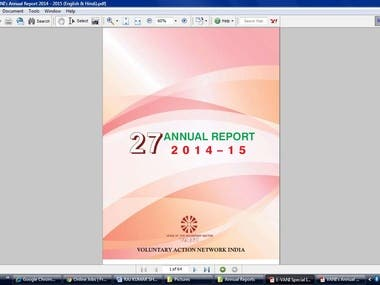  Typesetting & Layout Designing   ofor English & Hindi Publications ofor Bi-monthly English and Hindi e-Newsletter ofor Annual Report  oleaflet obrochure  oReports