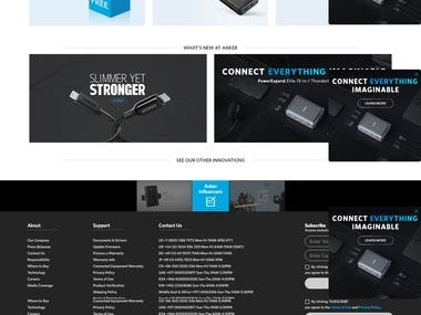 An E-commerce website for mobile accessories.
