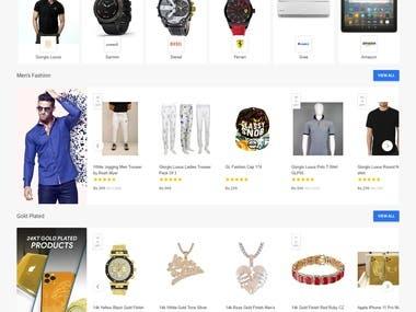 A multi-vendor website for selling goods.
