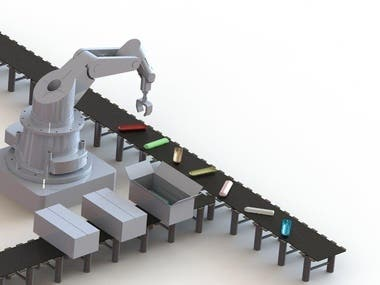 Arm Robotic Assembly in Solidworks