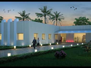 A guest house design, for a leading company in India, made by me