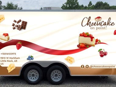 food truck/trailer wrapping design I am providing with concept model design and vector high resolution ready to print