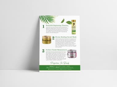 Double Sided Beauty Product Flyer Design and Business Cards with a creative mind and good with 3D design