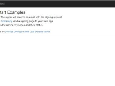 Docusign is an APIfor esign the document from client. we have integrated for
