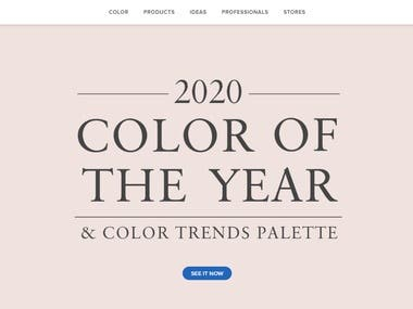 Benjamin Moore Website Design And Development. Industry Color Trend Pallets Coloring For The Complete Home.