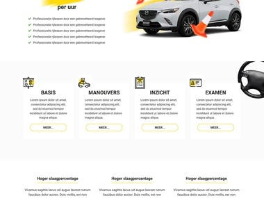 Website design and development for a driving school.
