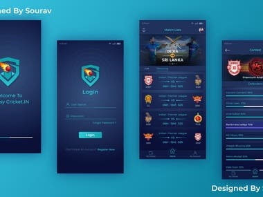 Some app designs made by me.