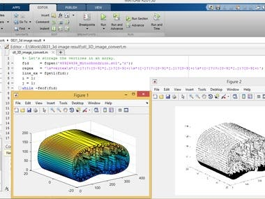 Convert .stl 3d image file to .dat file by Matlab
