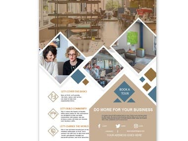 Flyer design for client website and theme based on his website