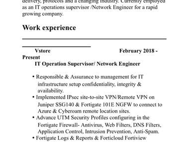 I am well experienced in IT Sector with 12 plus of experience on hardware/Software/Network design and security. Already designed and prepared IT infrastructure and setup for companies. Looking jobs as freelancers as well. Thanks