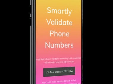 We designed and built a phone number validation website.  The website allows us to enter a phone number and returns information related to the number. It also allows the uploading of CSV files to process multiple phone numbers in bulk.  We also built a subscription service that gives access to credits that can be used to validate a fixed number of phone numbers as per credits purchased. The service also provides API endpoints that can be used to build your own systems to validate the phone numbers.  Technologies used: - Codeigniter framework - 2 Phone number validation APIs - Paypal payment gateway - Stripe payment gateway - Chart JS  The application was designed, built, and tested in under two months.