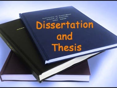 A thesis or dissertation is a document submitted in support of candidature for an academic degree or professional qualification presenting the author's research and findings.
