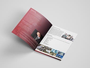 Designs of Company Profile  Annual Report Business Profile Business Proposal Half-Fold Brochure Bi-Fold Brochure Tri-Fold Brochure A4, A5 Brochure Multi-page Brochure/Magazine/Catalog Company Profile Booklet Magazine Business Catalog TriFold