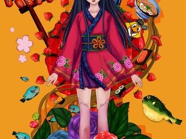 Manga illustrations