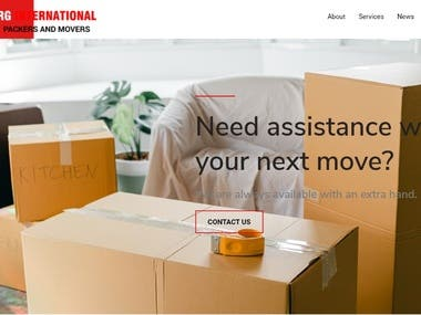 Official Website of RG Packers and Movers, which is based in Haryana