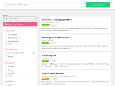 This is the job recruiter application. CronJob works for managing the jobs in real time