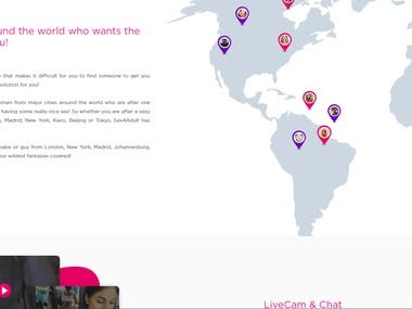 This is online dating website, supports live chat, video streaming