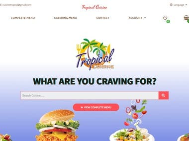 Fully responsive and working website for restaurants made using wordpress, woocommerce, elementor, etc