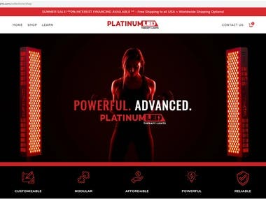 In this Shopify store, I have worked to customize the turbo theme throughout the whole pages. After that, I updated the turbo theme to the latest version. Also, I am still maintaining this Shopify store as well.  URL: https://platinumtherapylights.com