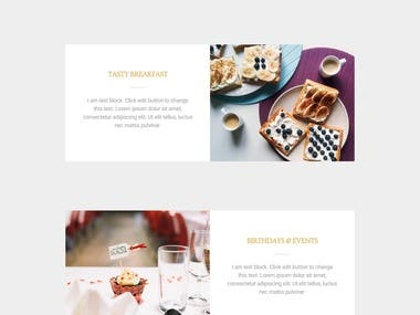 This a Food restaurant website,  website link    https://freelanceralasad.com/food/   I have create a sticky menu and also add anchor , so when  you  hit an menu option it will be jump in selective section. Any kind of change is possible like that contact form, Registration form any kind of widget .This website is seo friendly and mobile responsive.