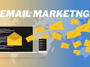 I have lots of experience in Email Marketing, Email Collect, Email Marketing, Mailchimp, Template Design, Email Campaign.