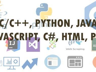 C/C++,Java,Python is my basic skill.