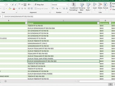 This is my work that I do the most, crunching thousands of rows of data