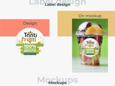 Tanti Fruit brand logo design PSD
