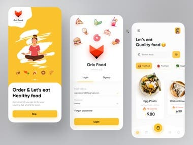 Food Delivery mobile App This was built by Flutter.