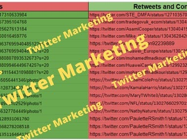 """The Promo rate WILL rise while getting more feedback!  Real engagement, favorite, real followers, real results!  YOU WILL GET tweet your message to 200k followers base account Re-tweet your massage with different people  New followers every day from the target audience Increase website traffic and sales Brand recognition and awareness Free consultation service  WHAT I WILL DO """"Spy"""" on your competitors and """"steal"""" their followers Engaging prospective users Like posts from prospective users Comment on related posts  WHY CHOOSE ME? Proven Twitter marketing results Marketing your account MANUALLY Growing your audiences organically No fake bot accounts"""