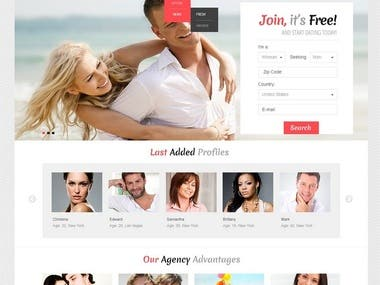 Fullstack development for social dating from all over the world. Responsive and pixel-perfect design.