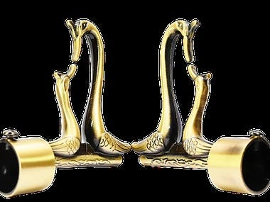 Curtain Finials in White back ground