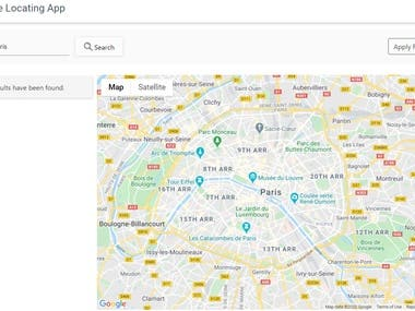 Store locating Search Engine - Google Map API
