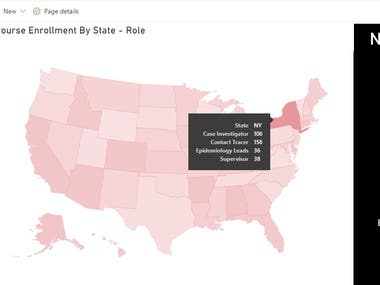 Power BI interactive map loads data from SharePoint list.
