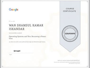 Course 3 of 5 to become a certified Google IT Support Specialist.