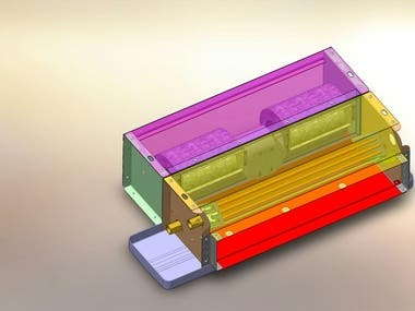 Chiller machine and Fan coil 3D modeling