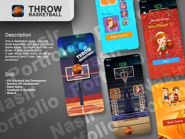 This is Basketball game. User can throw basketball and game with friend. Game supply 10 players and user can throw 10 balls in each round. If user win at each round, he will get accessorry. And if lose, then lose accessory.