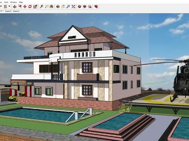 These are sketch up 3d model for Luxury houses
