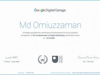 I got this certificate from google after completing 40 hours course.