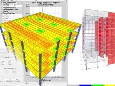 These are analysis  for framed building and high rise building.