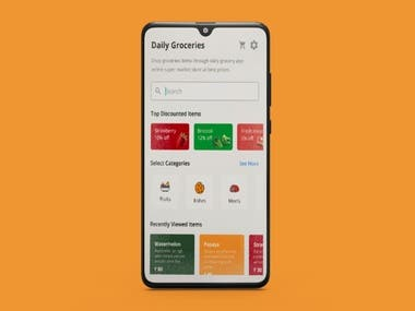 This app called Grocery market it can provide the user with the latest news . and still working at it   i use Kotlin to program this app   in addition to these techniques  (google authentication , firestore , food Api ,MVC desgin pattern)